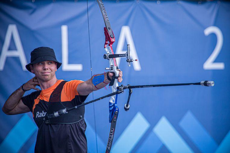 Steve Wijler tijdens een toernooi in Guatemala, waarin hij als vierde eindigde. Beeld Dean Alberga / Dutchtarget.com