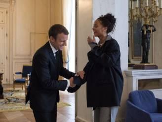 Rihanna bezoekt Macron in Parijs
