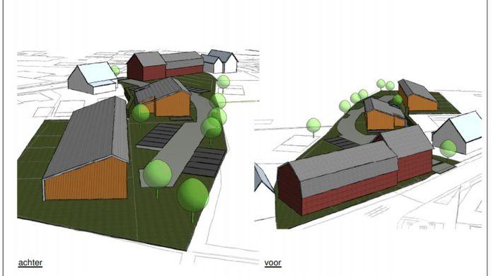 Impressies van het plan voor Houtse Heuvel 2.