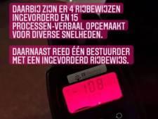Politie neemt 4 rijbewijzen in en schrijft 15 boetes uit bij snelheidscontroles Nieuwegein