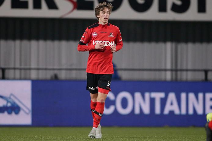 Jordan van der Gaag was dit seizoen één van de vijf NAC-huurlingen bij Helmond Sport.