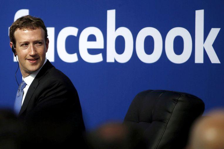 Facebook-CEO Mark Zuckerberg. Beeld REUTERS