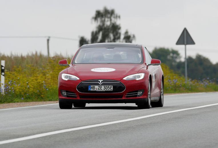 Een Tesla model S. Beeld REUTERS