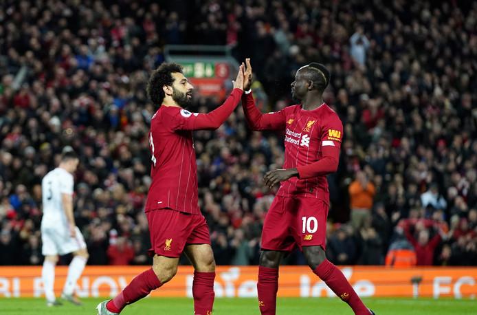 Liverpool moet begin volgend jaar wellicht Mohamed Salah en Sadio Mané missen vanwege de Afrika Cup.