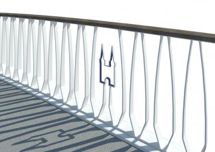 Ontwerp nieuwe brug Delft met icoon.