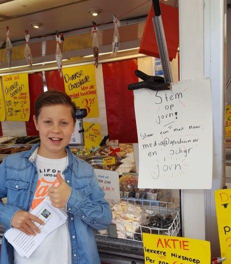 Jorn (10) en Noa (9) uit Apeldoorn vechten zelfs op straat om stemmen