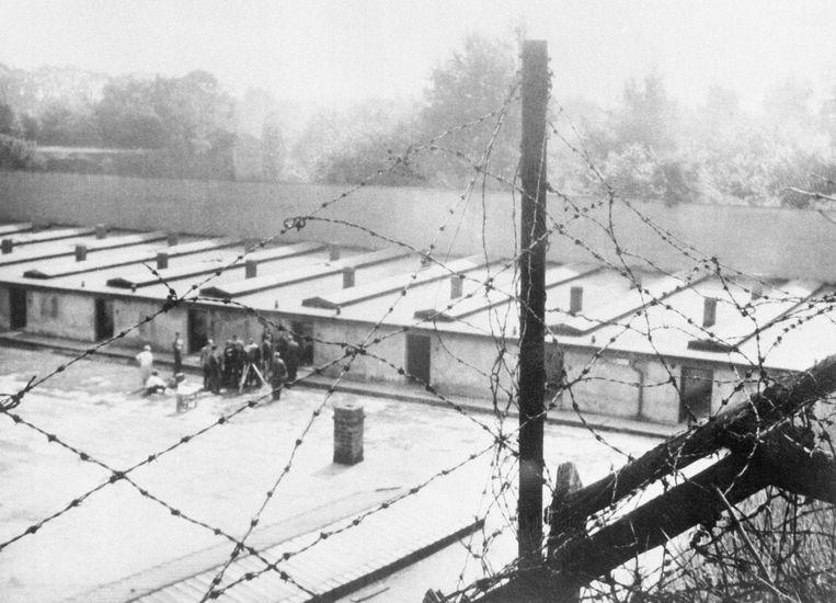 Theresienstadt in 1945. Ronald Waterman werd in september 1944 met zijn familie op transport gesteld naar het concentratiekamp. Beeld Getty