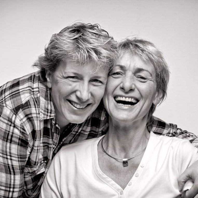 Annemieke en Ineke (rechts). Beeld ALS stichting
