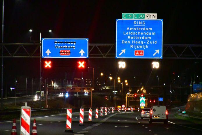 De Utrechtsebaan is dit hele weekend afgesloten voor verkeer