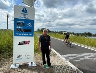 Fietssnelweg aan spoorbrug Kuringen krijgt fietstelzuil