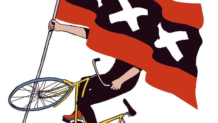 De grote meerderheid van de snorscooters rijdt te hard en veroorzaakt te veel giftige uitlaatgassen Beeld Yoko Heiligers