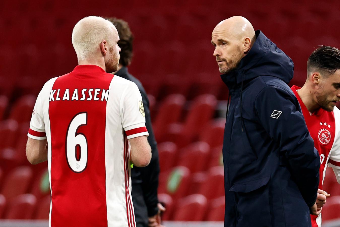 Davy Klaassen (links) en Erik ten Hag.
