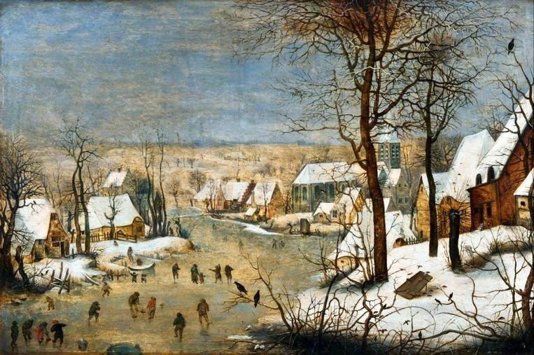 Winterlandschap Beeld Pieter Brueghel