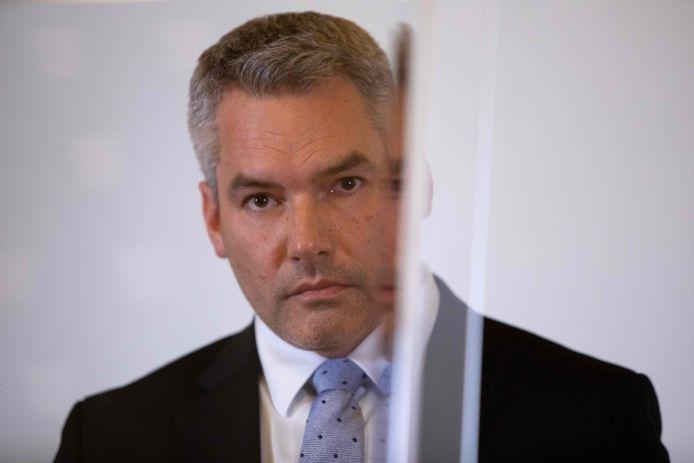 Minister van Binnenlandse Zaken Karl Nehammer van Oostenrijk.