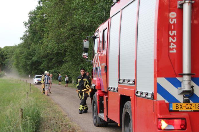 De brandweer rukte dinsdagavond uit na een melding van een gaslek op de Schreursweg in Holten.