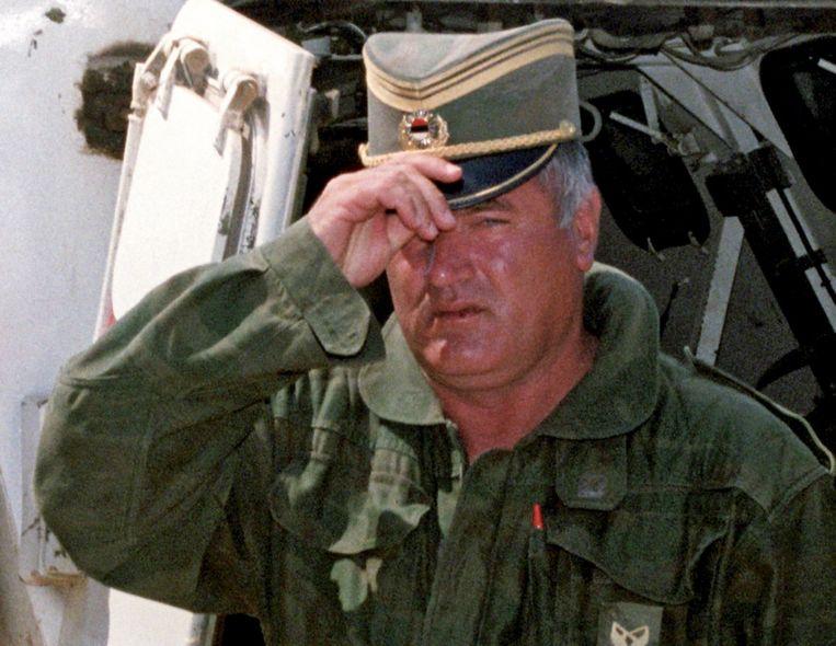 De voormalige Joegoslavische generaal Ratko Mladic in 1993. Beeld EPA