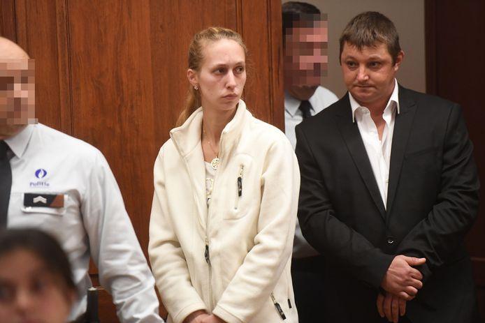 Beschuldigden Stephanie Janssens en Davy Van Vreckem werden voor het Leuvense assisenhof schuldig bevonden aan moord.