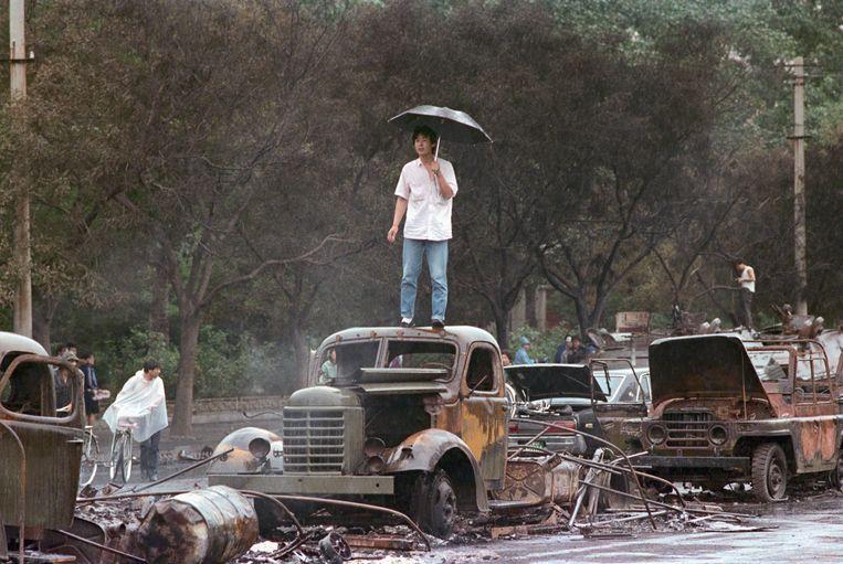 De nasleep van de Tiananmencrisis in 1989. Beeld Getty