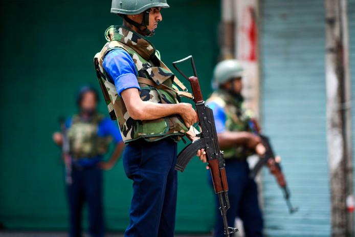 Een soldaat in Sri Lanka