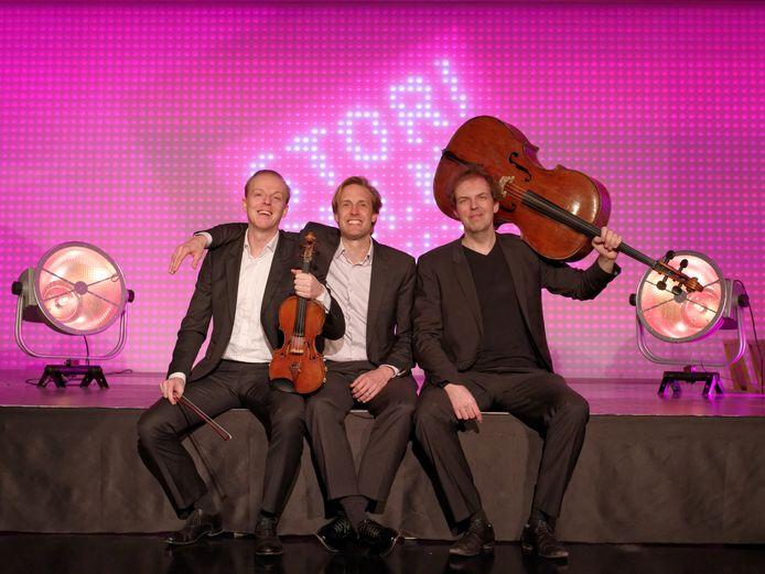 Het Storioni Trio: Wouter Vossen (viool), Marc Vossen (cello) en pianist Bart van de Roer.