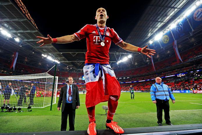 Feest op Wembley voor Arjen Robben.
