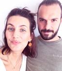 """Lara en haar vriend Steffen, die ze als haar """"rots"""" omschrijft."""