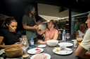 Diner in Mikes woning op Ibiza.
