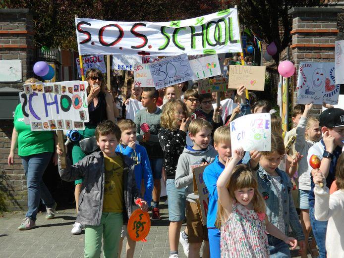 Er werden al veel acties gevoerd voor de bouw van de nieuwe school, die er nu echt wel moet komen.