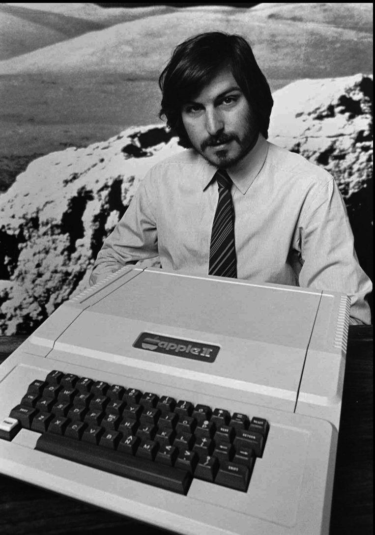 Jobs met de Apple II... Beeld AP