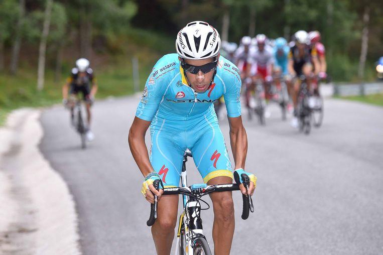 Fabio Aru maakt de coup voor Astana compleet. Beeld TDW