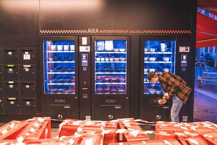 Automaten aan de Aula.