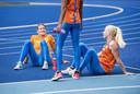 Dafne Schippers en Marije van Hunenstijn vandaag op Papendal.
