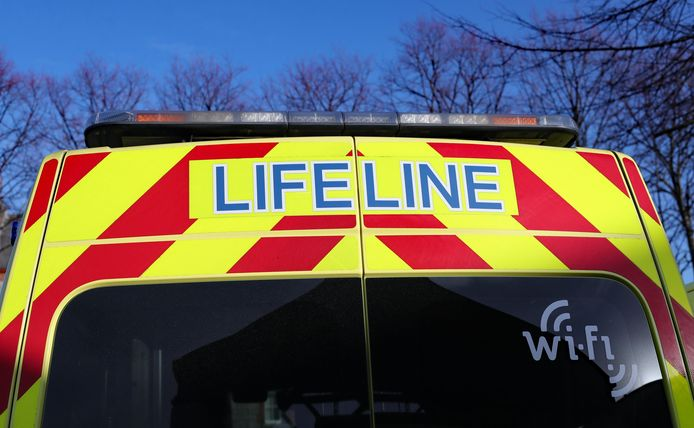 Emergency Services Stock. A stock picture of an Ambulance badge logo in Dublin. PRESS ASSOCIATION Photo. Picture date: Wednesday January 16, 2019. Photo credit should read: Niall Carson/PA Wire URN:40660699 + PHOTO NEWS / PICTURES NOT INCLUDED IN THE CONTRACTS  ! only BELGIUM !