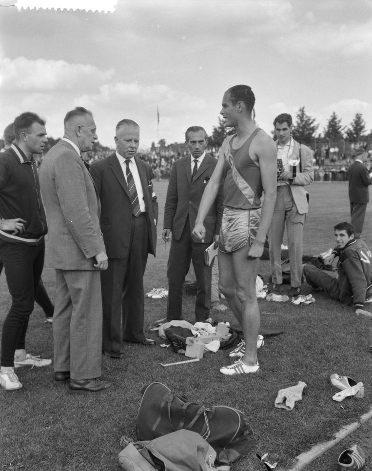 Op de NK atletiek in Eindhoven in 1960. Beeld Nationaal Archief