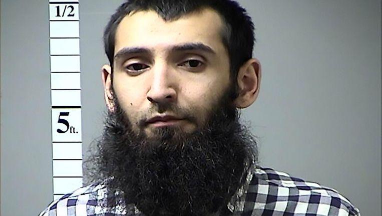 Een foto van Sayfullo Saipov die de politie dinsdag vrijgaf. Hij woont al sinds 2010 in de VS. Beeld AFP