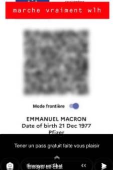 """Le pass sanitaire d'Emmanuel Macron a fuité en ligne: """"Faites-vous plaisir"""""""