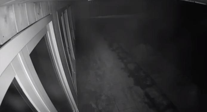Camerabeelden van de inbraak