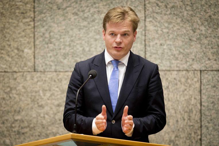 CDA Tweede Kamerlid Pieter Omtzigt aan het woord tijdens het vragenuurtje. Beeld ANP
