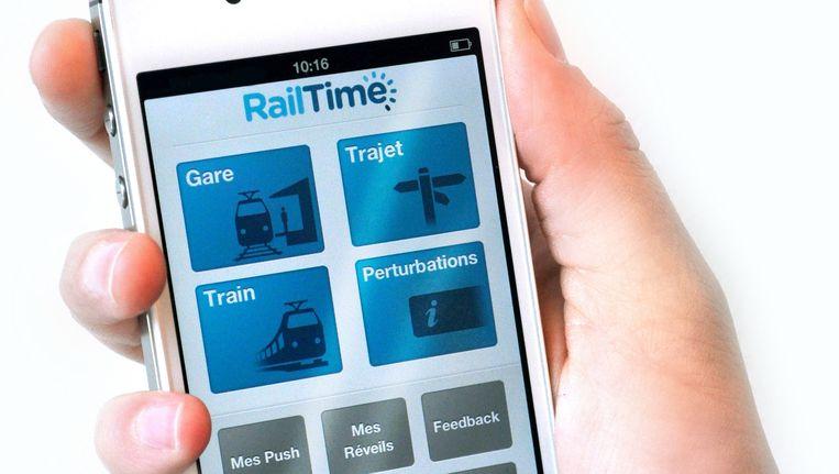 De RailTime-app was volgens veel fans simplistisch en gebruiksvriendelijk. Beeld railtime