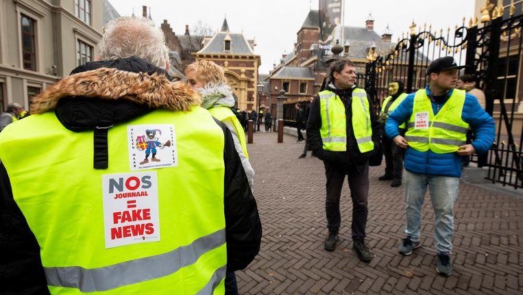 Een protest van gele hesjes in Den Haag, afgelopen weekend. Beeld anp