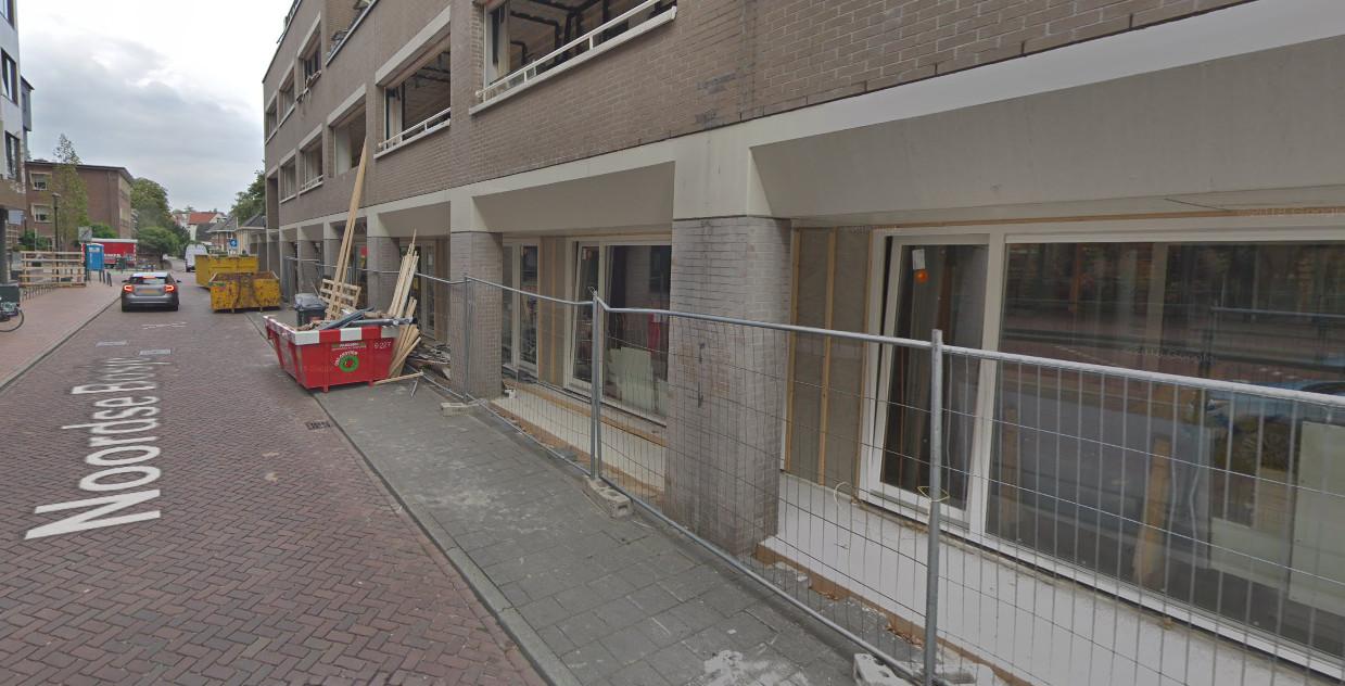 De appartementen aan het Noordse-Bosje hier nog in aanbouw
