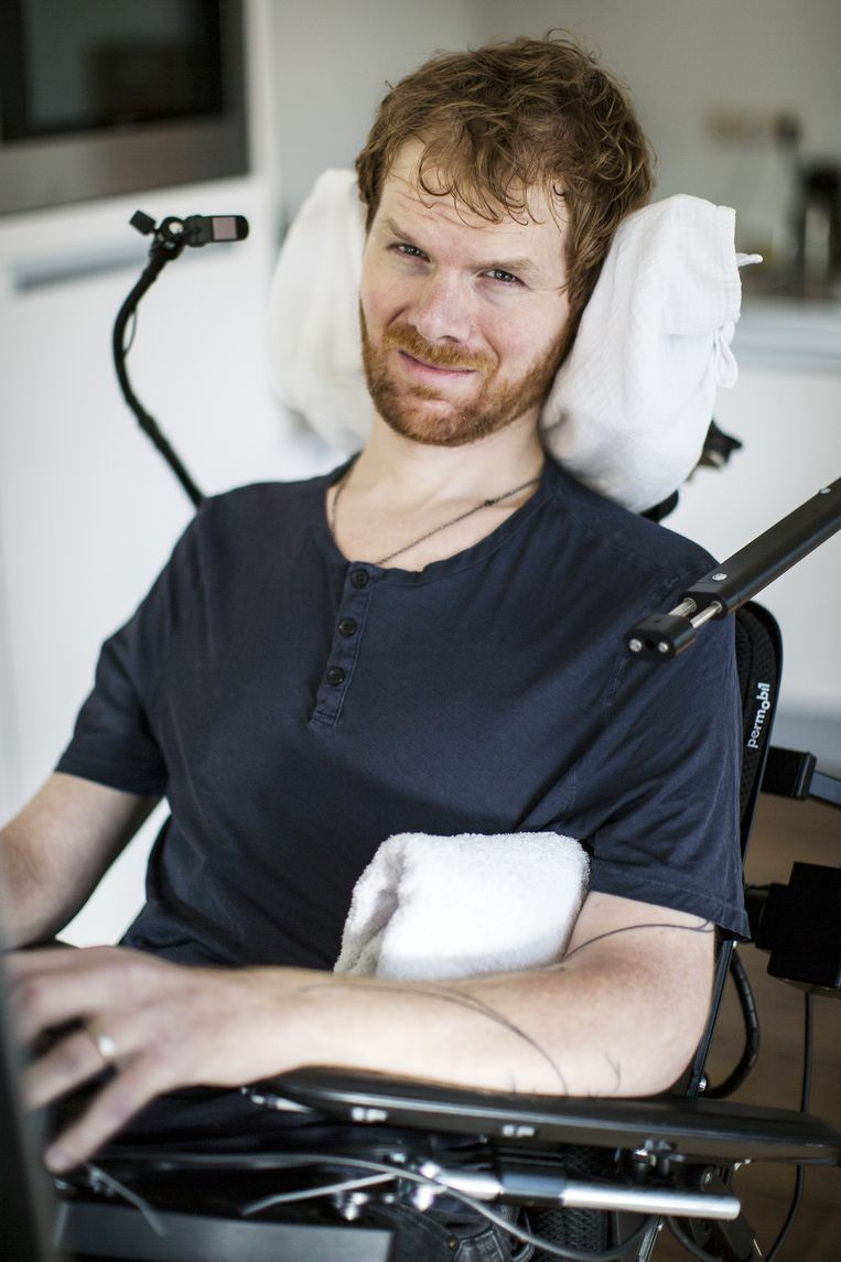 Garmt van Soest schreef een boek over zijn leven met ALS. Beeld Daniel Cohen