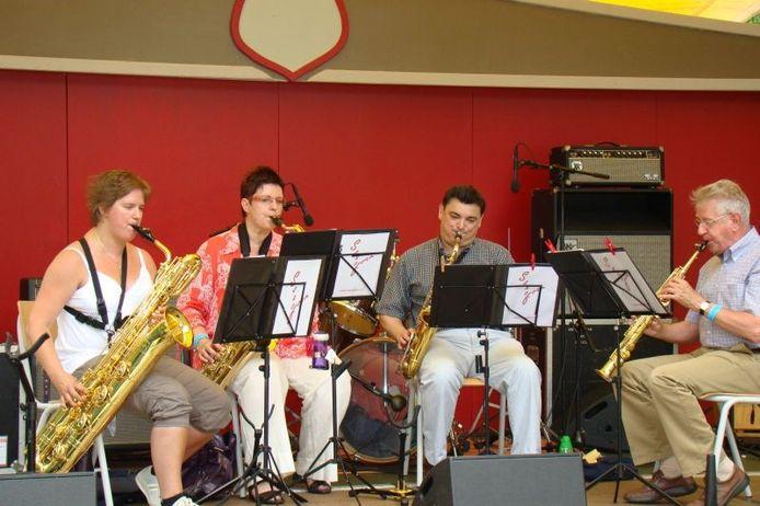 Saxofoonkwartet Saxofour uit Vollenhove. eigen foto