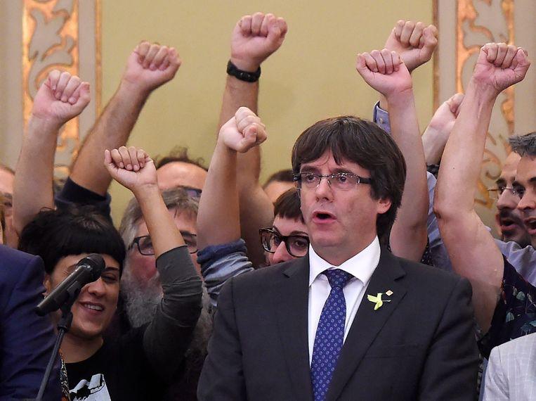 Carles Puigdemont. Beeld AFP
