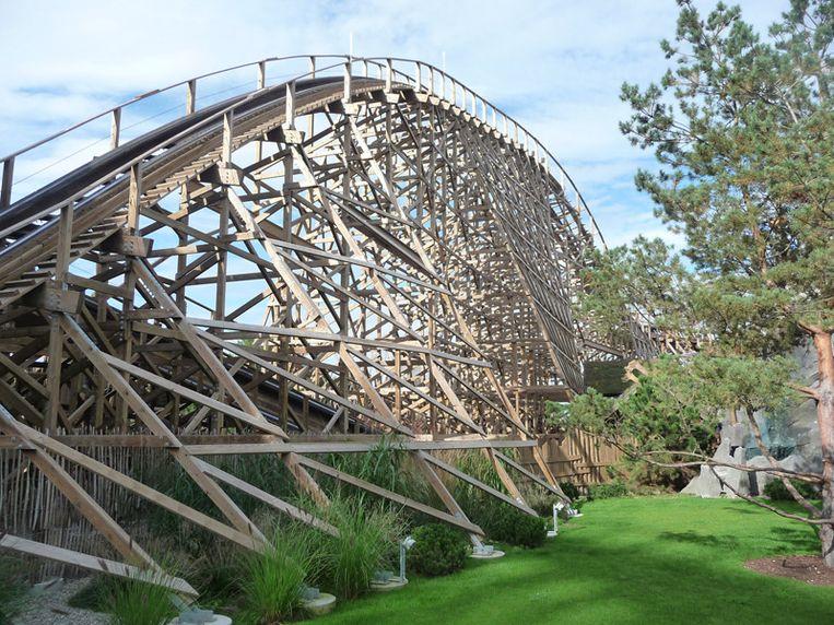Nieuw sinds dit jaar: Wodan, een houten achtbaan.