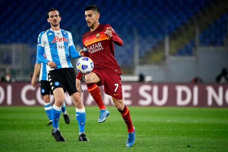Lorenzo Pellegrini is een van de uitblinkers bij AS Roma dit seizoen. Beeld EPA