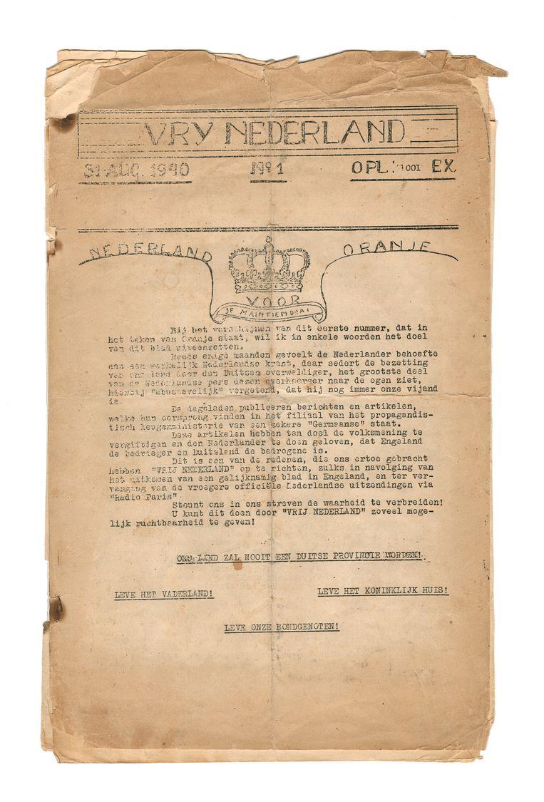 Vrij Nederland in 1940 Beeld Archief