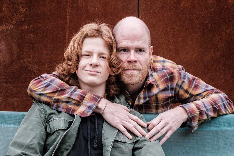 Bruno en Sam Vanden Broecke. Beeld Bob Van Mol