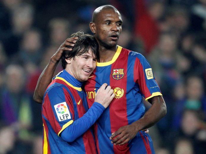 Messi et Abidal, coéquipiers en 2011.
