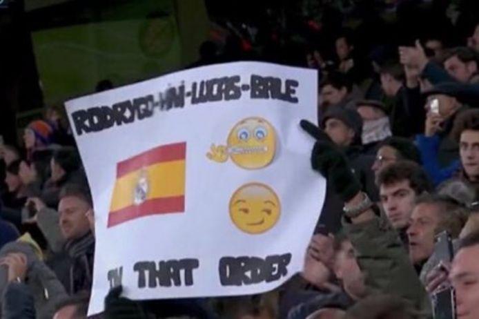 Het publiek nam Bale serieus op de korrel.